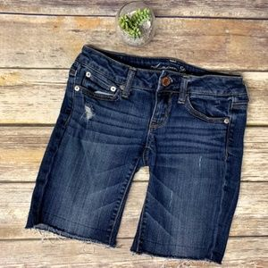 American Eagle Distressed Cut Off Denim Shorts